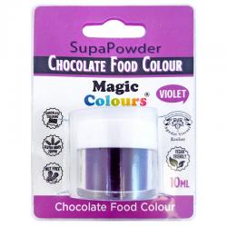 Colorante polvo violeta para chocolate, liposoluble, Magic Colours