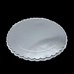 Base redonda rizada Plata 30 cm