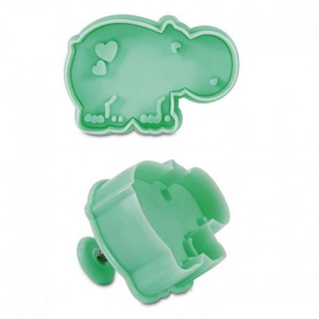 Cortante con expulsor hipopótano, galletas decoradas, städter