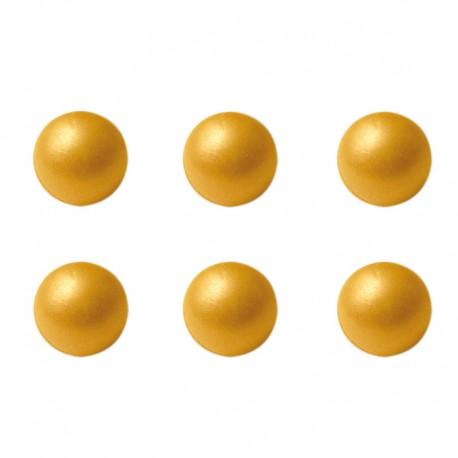 Bolas de chocolate Oro, decoracion postres