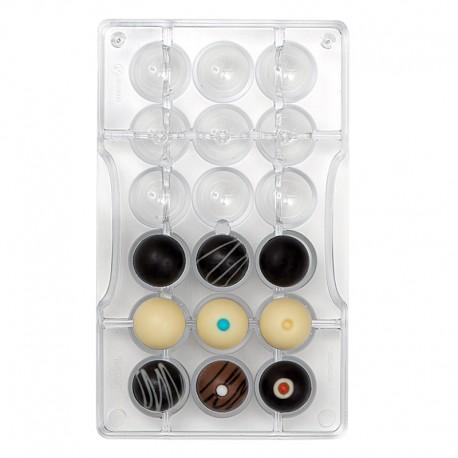 Molde para chocolate, esferas perforadas, bombones redondos, Decoraas