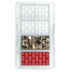 Molde para chocolate, tableta ladrillo, bombones, Decora