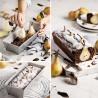 Molde rectangular, pasteles, bizcochos, hogazas de pan, Plum Cake, Decora