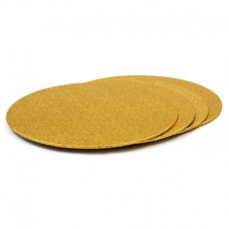 Base redonda fina oro, bases tartas, Decora