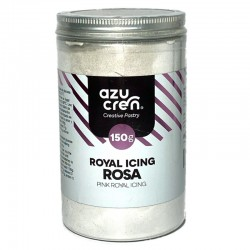 Preparado Glasa Real o Royal Icing color rosa, Azucren
