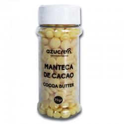 Gotas de manteca de cacao, Azucren