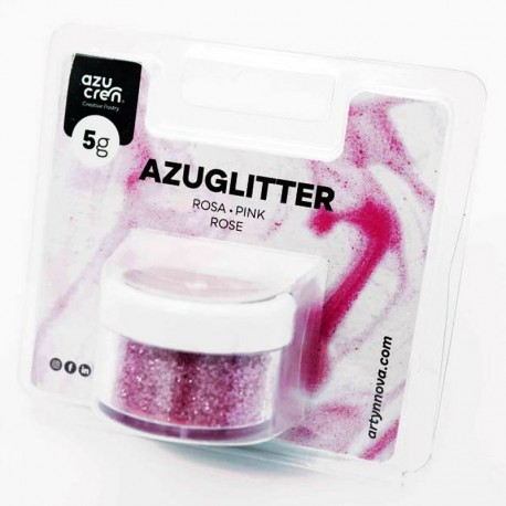 Purpurina decorativa azuglitter rosa, Azucren