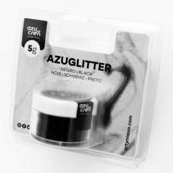 Purpurina decorativa Azuglitter Negra