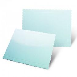 Base rectangular rizada azul brillante, Pastkolor
