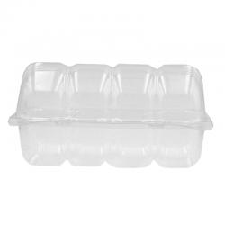 Caja plástico para 4 donuts