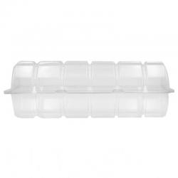 Caja plástico para 6 donuts