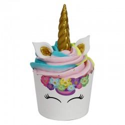 Set decoración cupcakes Unicornio x 6u