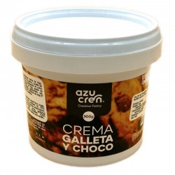 Crema chocolate blanco con galleta, Azucren
