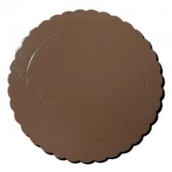 Base redonda rizada marrón, Azucren
