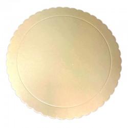 Base redonda rizada beige, Azucren