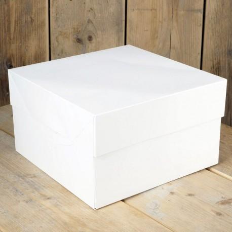 Caja para tartas blanca 22x22x15 cm