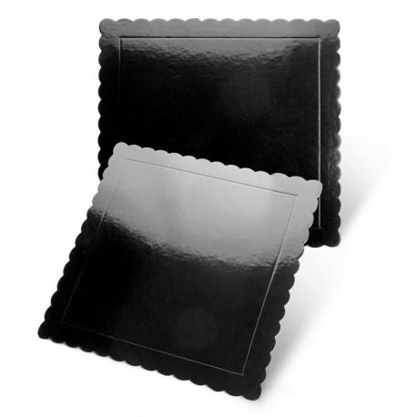 Base cuadrada rizada negra, Pastkolor