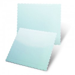 Base cuadrada rizada azul, Pastkolor