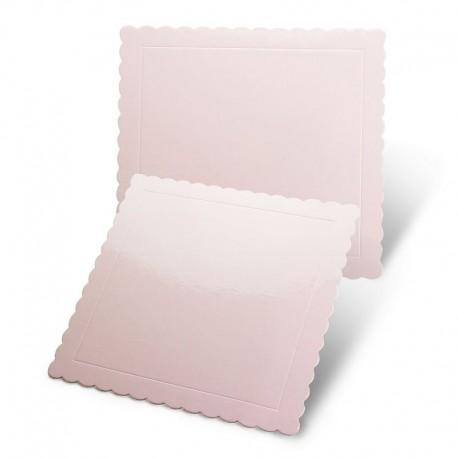 Base cuadrada rizada rosa bebe, Pastkolor