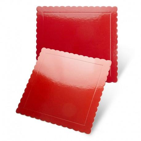 Base cuadrada rizada roja, Pastkolor