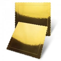 Base cuadrada rizada oro, Pastkolor
