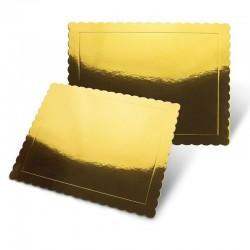 Base rectangular rizada ORO 35x25 cm