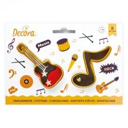 Cortantes Musicales Nota & Guitarra