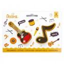 Cortantes Musical Nota & Guitarra