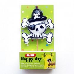 Vela Calavera Pirata