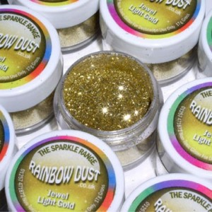 Sparkles Jewel Light Gold Rainbow Dust