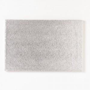 BASE RECTANGULAR FINA FunCakes PLATA 35,6x25,4 cm.