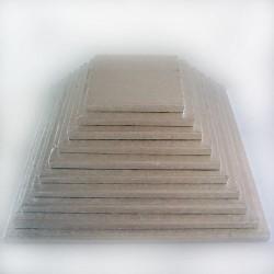 BASE CUADRADA PLATEADA 35x1 cm.