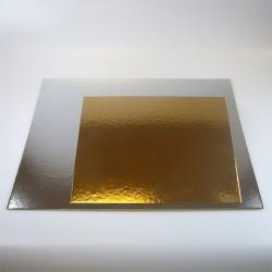 Base oro plata cuadrada 20 cm x 3 u
