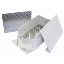 CAJA y BASE PME RECTANGULAR para TARTAS 33x22,8 cm.