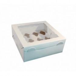 Caja Mini Cupcakes Blanca x 12