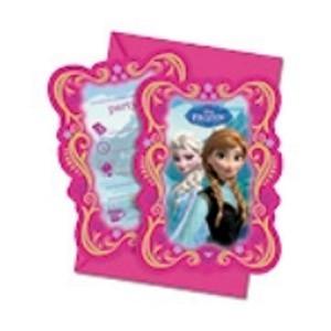 Artcakes Tarjeta Invitacion Frozen Pack X6