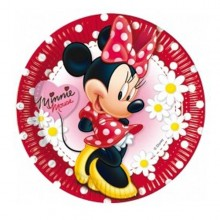 PLATOS MINNIE 23 cm. PACK x8