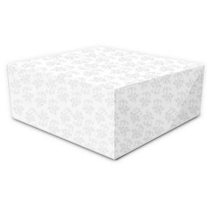 CAJA para TARTAS BLANCA 32,5x32,5x9,5 cm