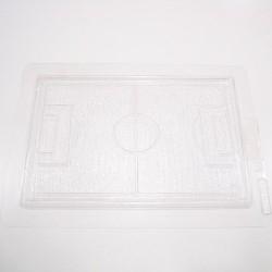 Molde plástico con forma de campo de fútbol
