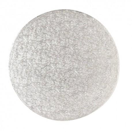Base redonda plateada fina 28 cm.