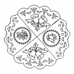 Patchwork marcador con motivos de bordes decorativos.