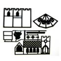 Patchwork marcador para hacer una iglesia en 3D.