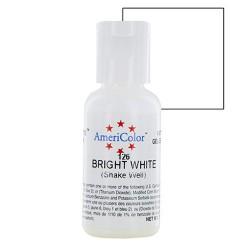 Colorante gel blanco brillante 'Bright White' Americolor 21 gr.