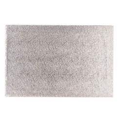 Base rectangular plateada para tartas 35x30x1,5 cm