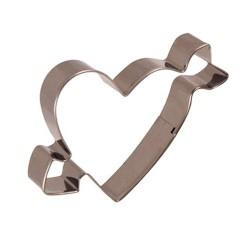 Cortante de galletas con forma de corazón con flecha cupido