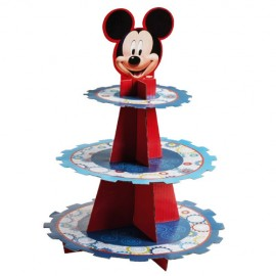 Expositor de cupcakes con 3 niveles, motivos Mickey Mouse
