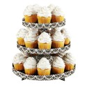 Expositor de cupcakes Wilton con 3 niveles, diseño damasco