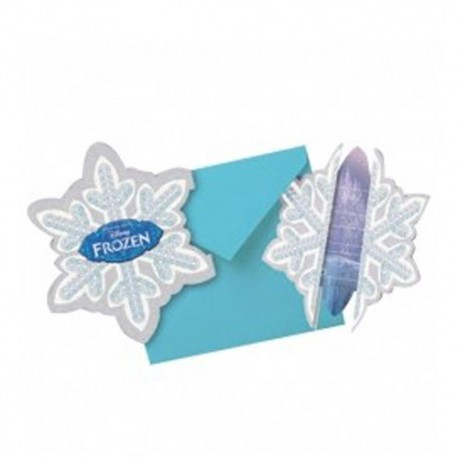 Tarjeta Invitacion Frozen Copo X 6
