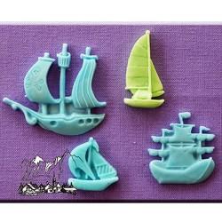 Molde de silicona con motivo de barcos Alphabet Moulds