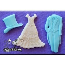 Molde de silicona con motivo de boda Alphabet Moulds
